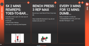 wod - workout of the day - beyond the whiteboard
